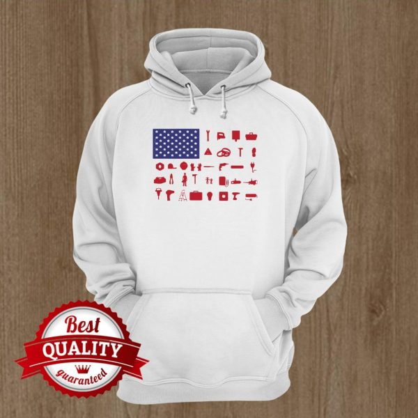 Electrician Independence Day American Flag Hoodie