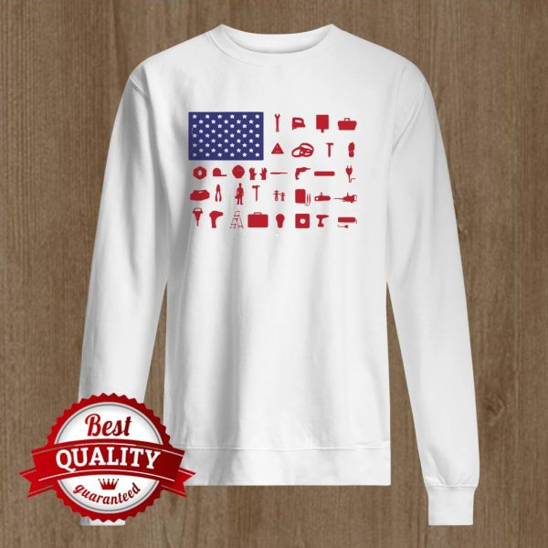 Electrician Independence Day American Flag Sweater