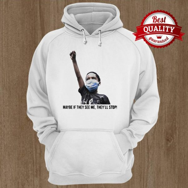 Maybe If They See Me They'll Stop Black Lives Matter Boy Hoodie