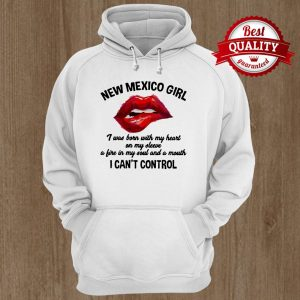 New Mexico Girl I Can't Control Lips Red Hoodie